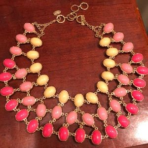 Three tiered reversible necklace. New